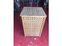 Good sized wood laundry basket