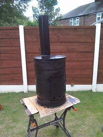 GAS BOTTLE WOODBURNER camping allotment fishing patio