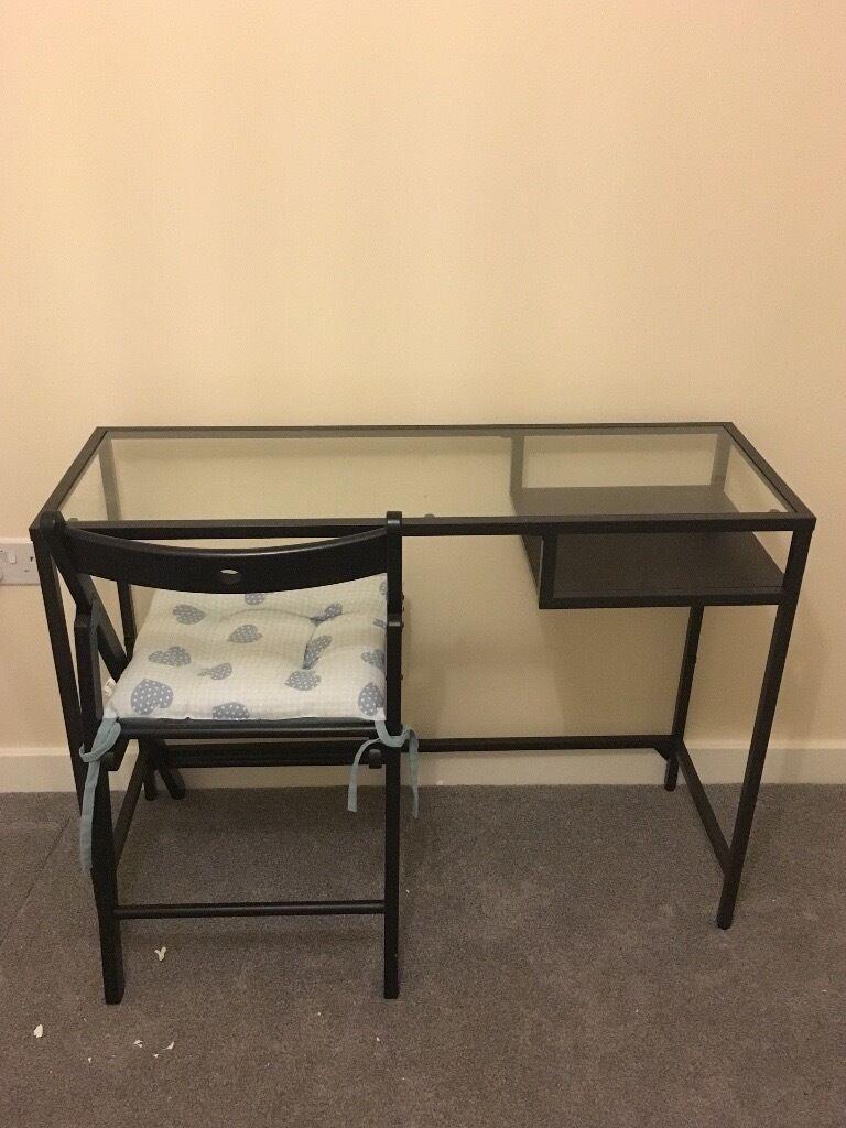 black ikea vittsjo glass top desklaptop table chair black ikea glass top desk