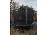 10ft used trampoline with surround.