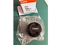 Canon 50mm f1.8 mkii lens and lens hood