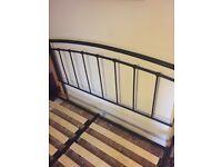 Metal solid king size bed frame