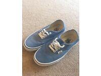 Blue Vans trainers Size 5