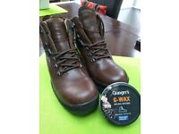 Ladies walking Boots- Brasher 100% leather upper- Beautiful condition