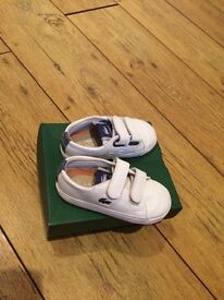 Kids Lacoste trainers
