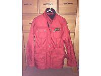 Ladies Barbour International polar quilt Jacket Red size 10