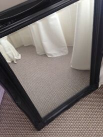 Black frame large mirror