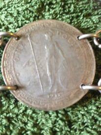 Great Britain Trade Dollar 1911 belt