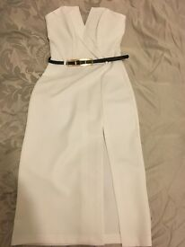 White strapless missfridge dress, size 10.