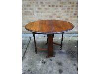 Darkwood Oval Folding Table