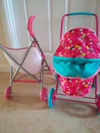 """Toy Pushchair & Pram. I Height 22"""". Excellent condition. Ideal gift for christmas."""