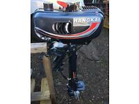 New 3.5 hp outboard with tiller