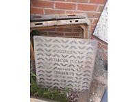 Manhole covers x2 cast iron