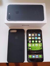 iPhone 7 plus 32gb unlocked in black