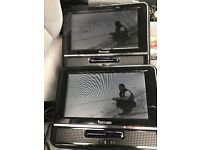 In-Car Portable DVD player + 3 Monitors + A/V Splitter + Leads