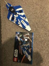 Retired Lego Star Wars Plo Koon's Jedi Starfighter