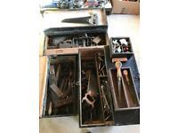 Vintage tools and tool boxs job lot