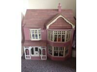 Second hand dollhouse. Free delivery in Rusholme. 30 X 60 X 60 cm. 3 stories
