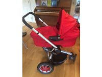 Red Quinny pushchair and pram