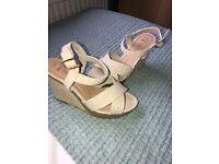 Ladies size 5 wedge heeled sandals