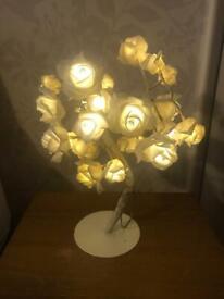 Lamp white rose tree bedroom/home/santuary