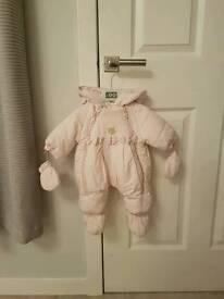 Pink ido snowsuit