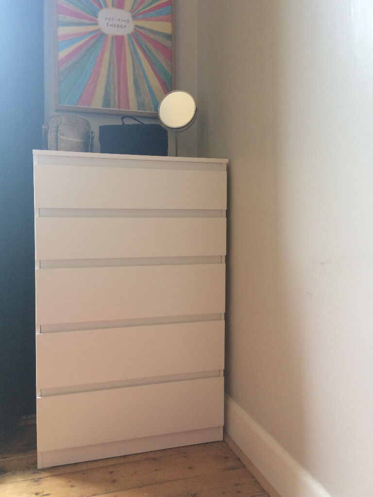 new ikea kullen chest of 5 drawers - white   in easter road