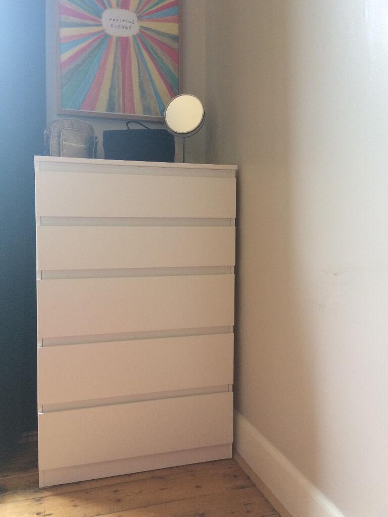 New Ikea Kullen Chest Of  Drawers White