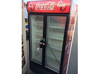Coca Cola double door drinks fridge
