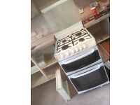 Free standing gas oven and hob.