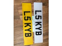 L5 KYB private cherished personalised personal registration plate number