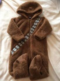12-18mth fleece with non slip feet Chewbacca