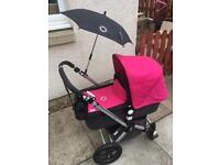 Bugaboo chameleon with 2 colours, maxi cosi car seat and easy base plus loads of extras!