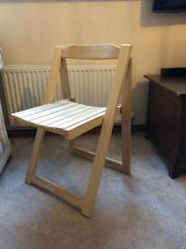 Fold up wooden chair
