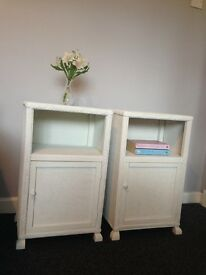 Hand Painted Bedside cabinets