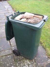 240L (Large Wheelie Bin) litres of Seasoned Firewood logs FREE IPSWICH DELIVERY
