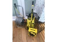 K4 jet wash with power lead extension and 25m hose