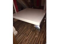 White gloss coffee table