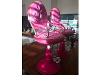 Our Generation Doll salon chair x2