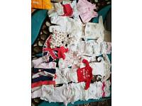 0-6 Month Baby Girls Clothes Bundle (47 Items)