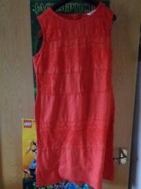 Monsoon Summer Linen Dress Size 16
