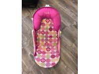 Girls pink baby bath chair