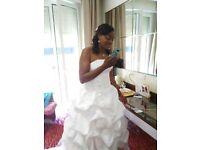 Stunning Wedding Dress for sale UK12
