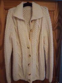 Brand new Hand knit aran cardigan