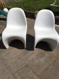 X6 Panton S style garden chairs (must go altogether)