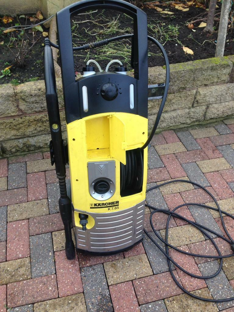 Karcher 160 bar pressure washer onboard hose reel car jet power wash 240v in bradford - Karcher k7 85 ...