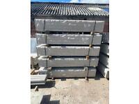 •New• Reinforced Concrete Fencing Base Panels / Gravel Boards - Rockface