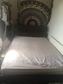 DOUBLE BED WITH MATTRESS MUST SELL ASAP