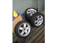 Rover alloy wheels 205/r50/16s with tyres