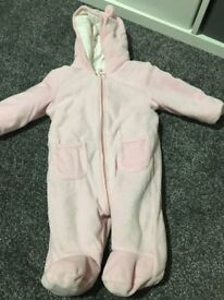 Baby Girls Pink All In One - 3-6 months
